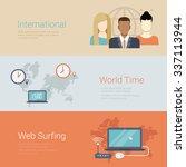 flat style website slider... | Shutterstock .eps vector #337113944