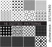 sixteen polka dot seamless... | Shutterstock .eps vector #337119650