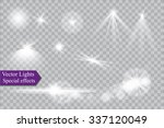 abstract image of lighting... | Shutterstock .eps vector #337120049