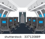 Interior Of Salon Of The Plane...