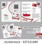 brochure design template ... | Shutterstock .eps vector #337121480