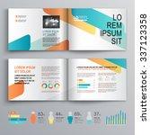 white brochure template design... | Shutterstock .eps vector #337123358