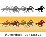 horse racing. jockeys on horses ... | Shutterstock . vector #337126523