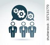 vector illustration of gears ... | Shutterstock .eps vector #337131770