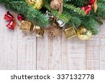 christmas decorations  on... | Shutterstock . vector #337132778