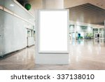 mock up of blank light box in... | Shutterstock . vector #337138010