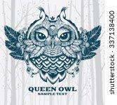 vector illustration owl.... | Shutterstock .eps vector #337138400