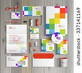 white corporate identity... | Shutterstock .eps vector #337141169