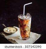 Iced Coffee And Cream  Napkin ...