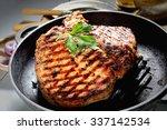 Juicy Steak In A Frying Pan ...