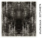 grunge wall in black and white  | Shutterstock . vector #337144874