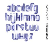 lowercase calligraphic brush... | Shutterstock .eps vector #337148693