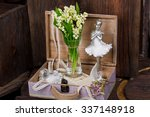 Постер, плакат: Flowers and ballerina decor