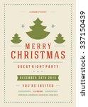 christmas party poster retro... | Shutterstock .eps vector #337150439