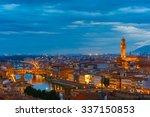 River Arno With Bridge Ponte...