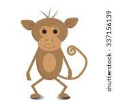 cute  monkey | Shutterstock .eps vector #337156139