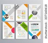 white brochure template design... | Shutterstock .eps vector #337160618