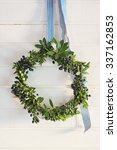 Christmas Green Wreath Of...