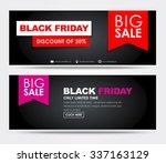 banner design black friday for...   Shutterstock .eps vector #337163129