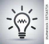 light bulb icon  vector | Shutterstock .eps vector #337163714