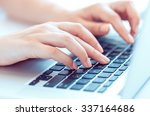 female hands or woman office... | Shutterstock . vector #337164686