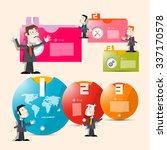 one  two  three  paper progress ... | Shutterstock . vector #337170578