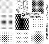 9 seamless dotted patterns.... | Shutterstock .eps vector #337178960