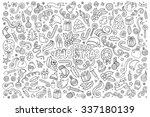 sketchy vector hand drawn... | Shutterstock .eps vector #337180139