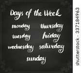 handwritten days of the week ... | Shutterstock .eps vector #337184963