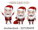 3d realistic set of santa claus ...   Shutterstock .eps vector #337190459