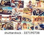 on the wheels. collage of... | Shutterstock . vector #337190738