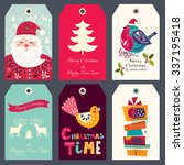 beautiful greeting tags with... | Shutterstock .eps vector #337195418