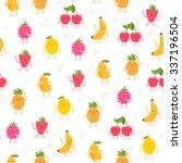 cartoon fruit characters... | Shutterstock .eps vector #337196504