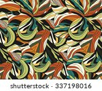 tropical abstract seamless... | Shutterstock .eps vector #337198016
