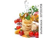 italian pasta nest  cherry...   Shutterstock . vector #337201958