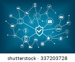 internet of things security... | Shutterstock .eps vector #337203728