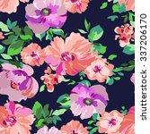 pretty floral print   seamless...   Shutterstock .eps vector #337206170