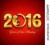 new year postcard design  gold...   Shutterstock .eps vector #337206899