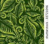 raster seamless green floral... | Shutterstock . vector #33721046