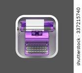 shiny purple vintage typewriter ...