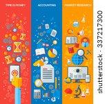 set of vertical business... | Shutterstock .eps vector #337217300