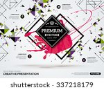 3d abstract background with... | Shutterstock .eps vector #337218179