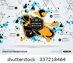 3d abstract background with... | Shutterstock .eps vector #337218464