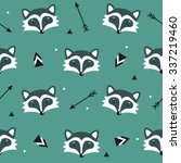 vector seamless pattern with... | Shutterstock .eps vector #337219460