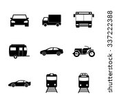 transportation icons. flat... | Shutterstock .eps vector #337222388