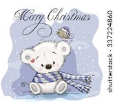Greeting Christmas Card With...