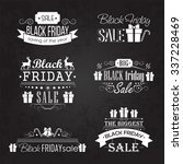 black friday sale calligraphic... | Shutterstock .eps vector #337228469