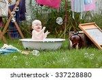 Bath Time   Adorable Baby Girl...