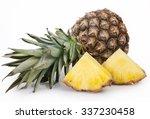 fresh pineapple isolated on... | Shutterstock . vector #337230458