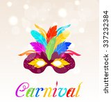 illustration colorful carnival... | Shutterstock . vector #337232384
